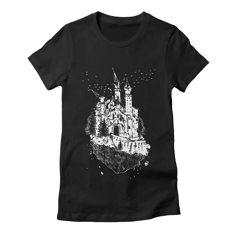 Crumbling Castle Women's Fitted T-Shirt by SHOP THORAZOS TSHIRTS