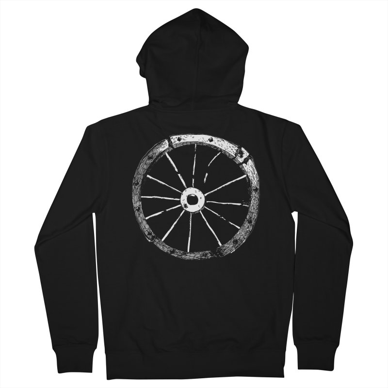 Catherine Wheel Men's French Terry Zip-Up Hoody by SHOP THORAZOS TSHIRTS