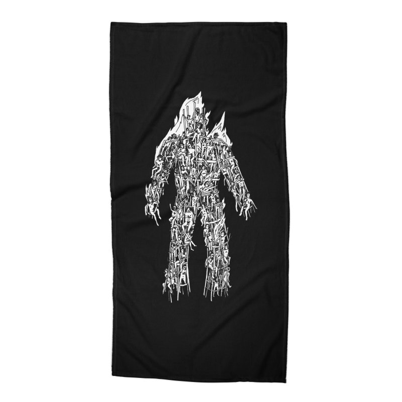 Wicker Man Accessories Beach Towel by SHOP THORAZOS TSHIRTS