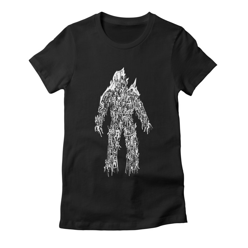 Wicker Man Women's Fitted T-Shirt by SHOP THORAZOS TSHIRTS