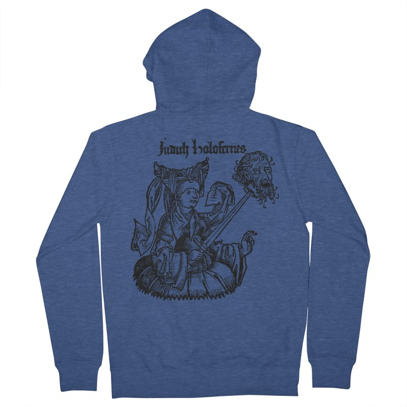Judith and Holofernes Men's French Terry Zip-Up Hoody by SHOP THORAZOS TSHIRTS