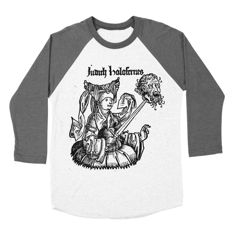 Judith and Holofernes Women's Baseball Triblend Longsleeve T-Shirt by SHOP THORAZOS TSHIRTS