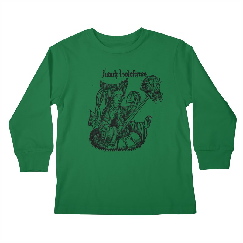 Judith and Holofernes Kids Longsleeve T-Shirt by SHOP THORAZOS TSHIRTS