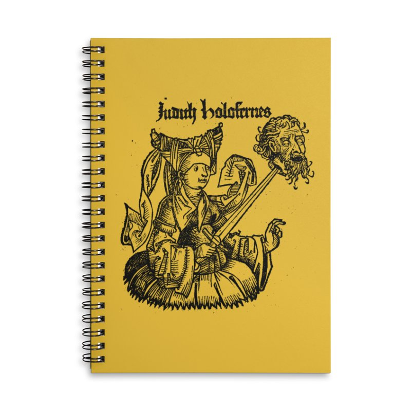 Judith and Holofernes Accessories Lined Spiral Notebook by SHOP THORAZOS TSHIRTS
