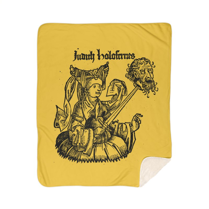 Judith and Holofernes Home Sherpa Blanket Blanket by SHOP THORAZOS TSHIRTS