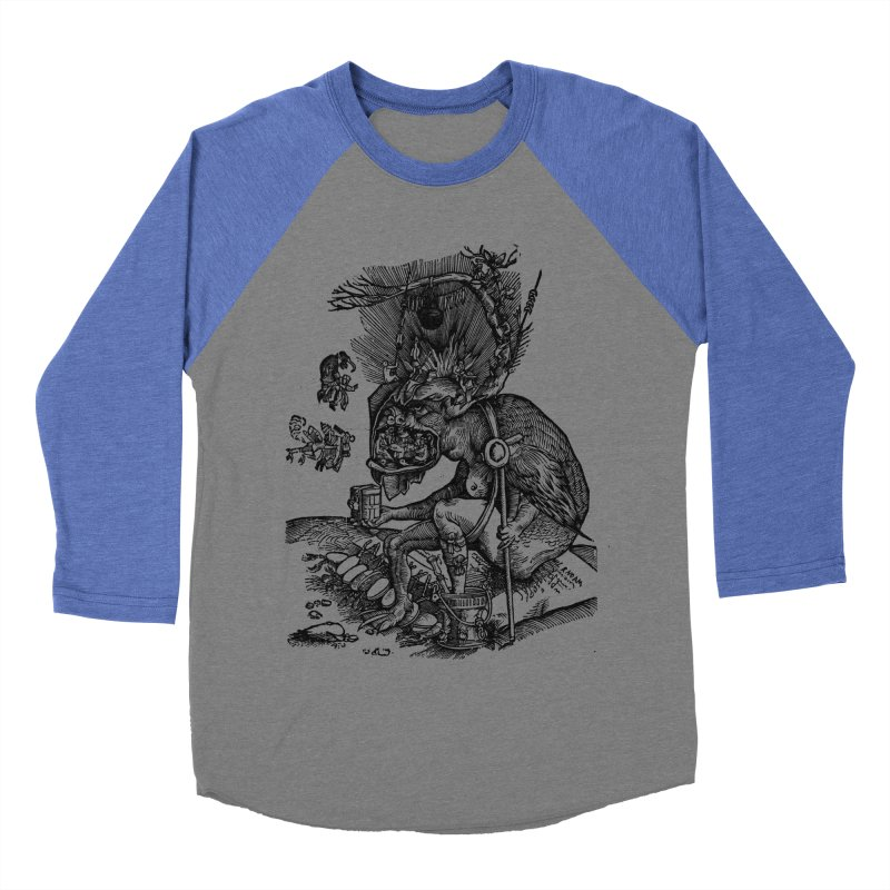 Priests in the Jaws of the Devil Men's Baseball Triblend Longsleeve T-Shirt by SHOP THORAZOS TSHIRTS