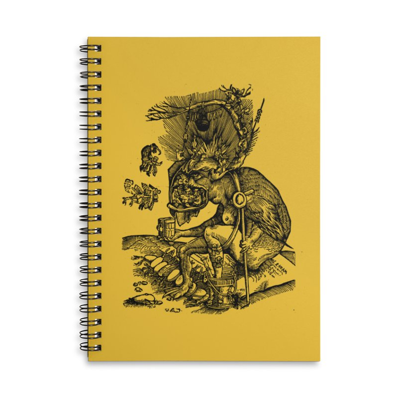 Priests in the Jaws of the Devil Accessories Lined Spiral Notebook by SHOP THORAZOS TSHIRTS