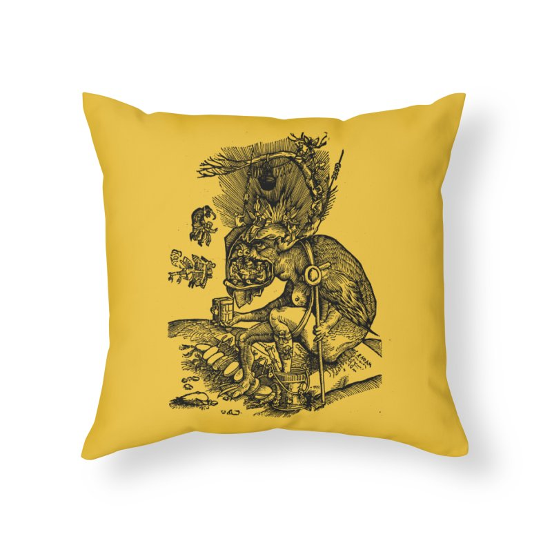 Priests in the Jaws of the Devil Home Throw Pillow by SHOP THORAZOS TSHIRTS