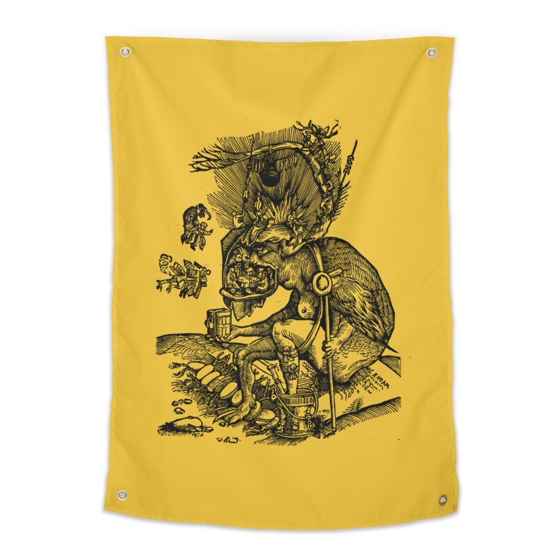 Priests in the Jaws of the Devil Home Tapestry by SHOP THORAZOS TSHIRTS
