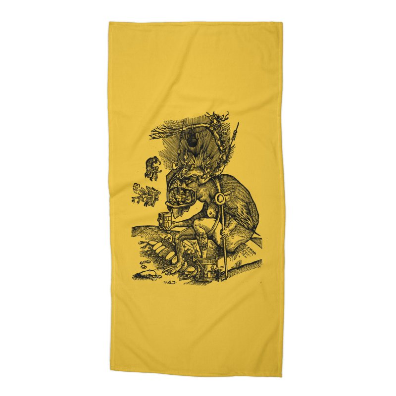 Priests in the Jaws of the Devil Accessories Beach Towel by SHOP THORAZOS TSHIRTS