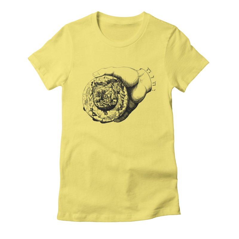 Hand of God Women's Fitted T-Shirt by SHOP THORAZOS TSHIRTS
