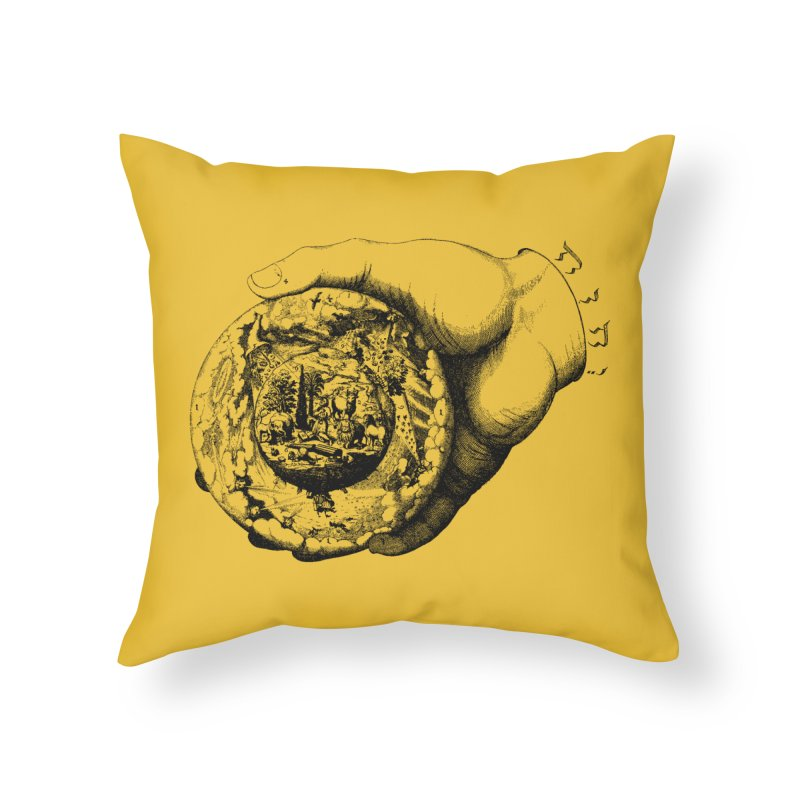 Hand of God Home Throw Pillow by SHOP THORAZOS TSHIRTS