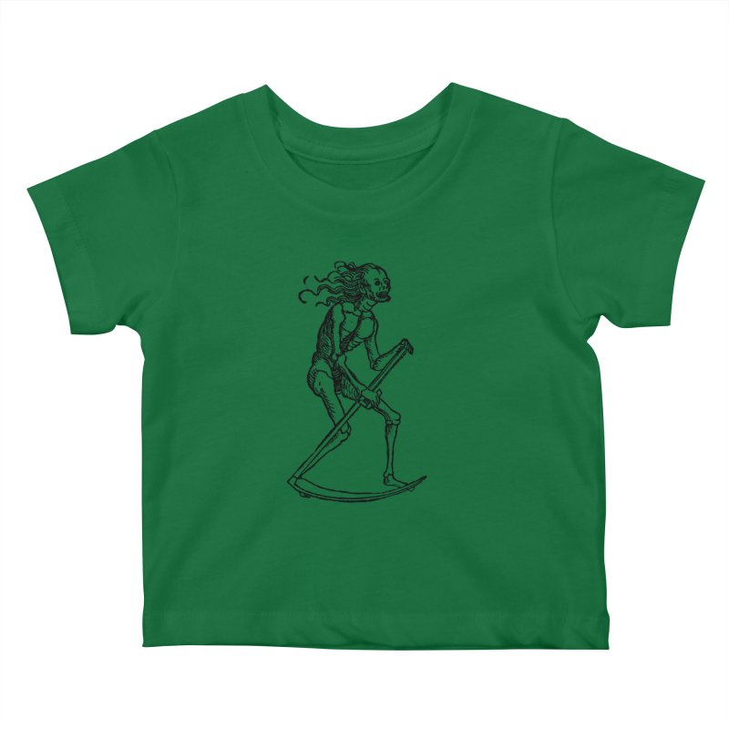 Death the Reaper Kids Baby T-Shirt by SHOP THORAZOS TSHIRTS