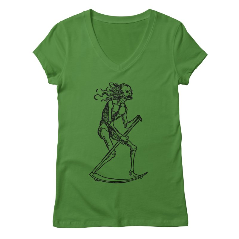 Death the Reaper Women's Regular V-Neck by SHOP THORAZOS TSHIRTS