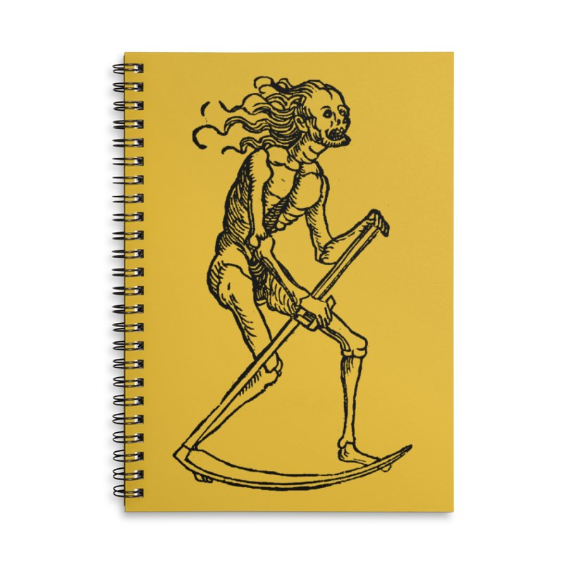 Death the Reaper Accessories Lined Spiral Notebook by SHOP THORAZOS TSHIRTS