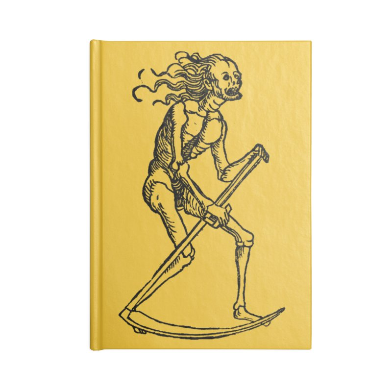 Death the Reaper Accessories Lined Journal Notebook by SHOP THORAZOS TSHIRTS