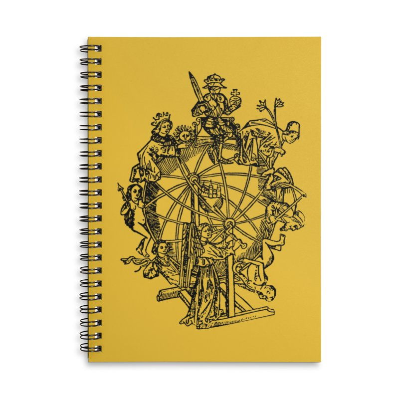Celestial Wheel Accessories Lined Spiral Notebook by SHOP THORAZOS TSHIRTS