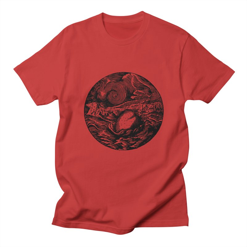 Heart in Peril Men's Regular T-Shirt by SHOP THORAZOS TSHIRTS