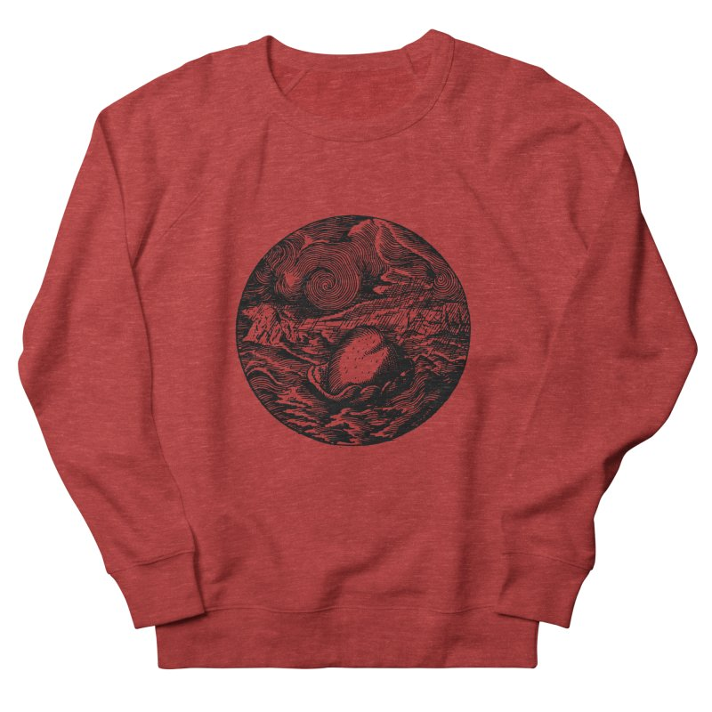 Heart in Peril Men's French Terry Sweatshirt by SHOP THORAZOS TSHIRTS