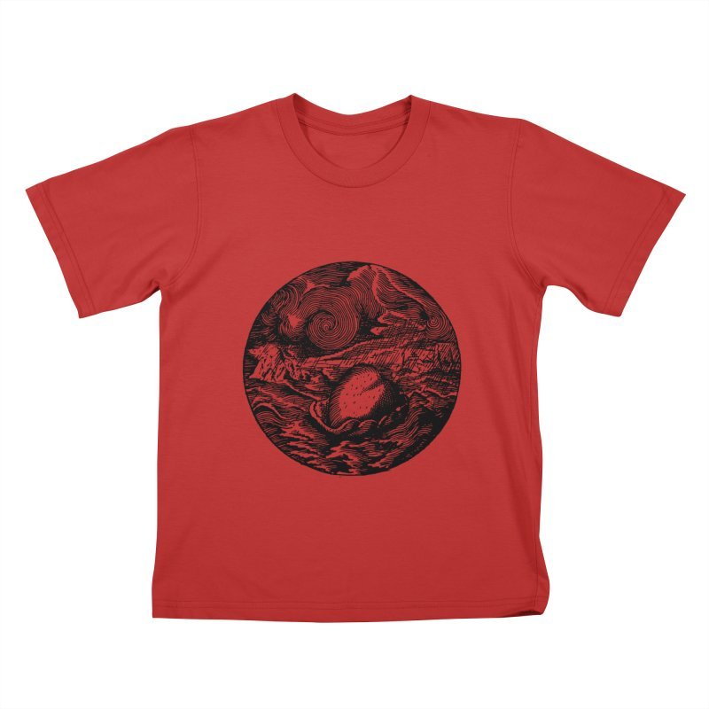 Heart in Peril Kids T-Shirt by SHOP THORAZOS TSHIRTS