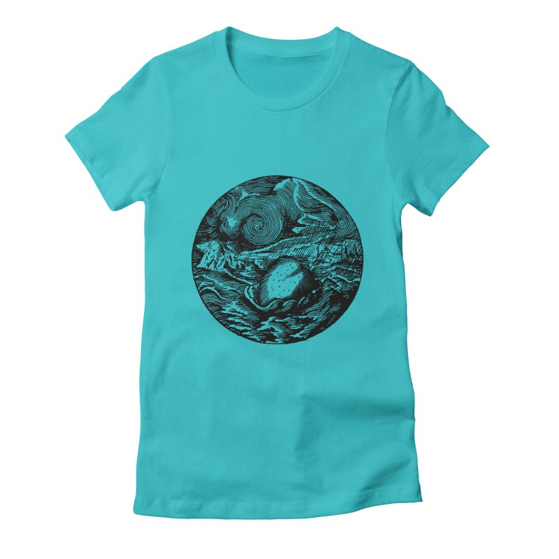 Heart in Peril Women's Fitted T-Shirt by SHOP THORAZOS TSHIRTS