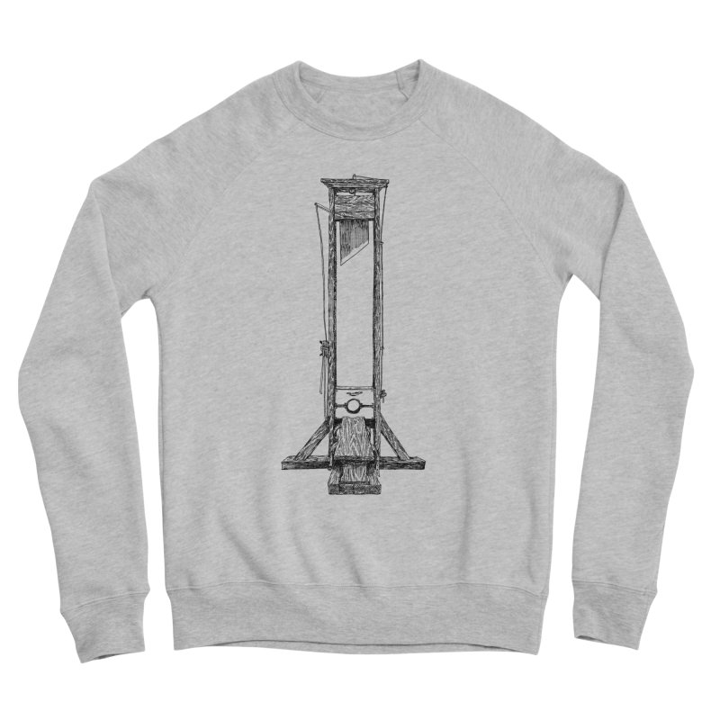 Guillotine (black ink) Women's Sponge Fleece Sweatshirt by SHOP THORAZOS TSHIRTS
