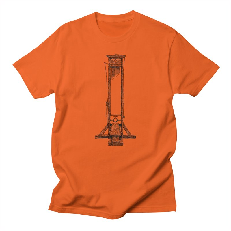 Guillotine (black ink) Men's T-Shirt by SHOP THORAZOS TSHIRTS