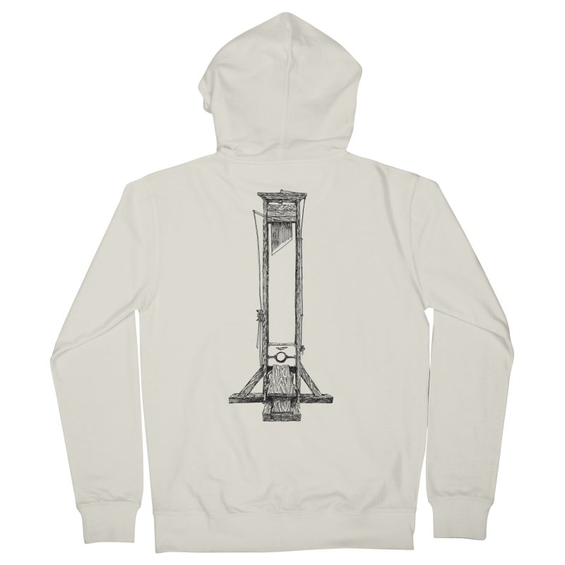 Guillotine (black ink) Men's French Terry Zip-Up Hoody by SHOP THORAZOS TSHIRTS