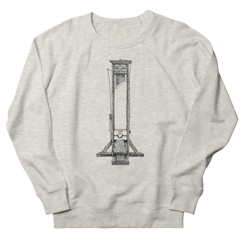 Guillotine (black ink) Women's French Terry Sweatshirt by SHOP THORAZOS TSHIRTS