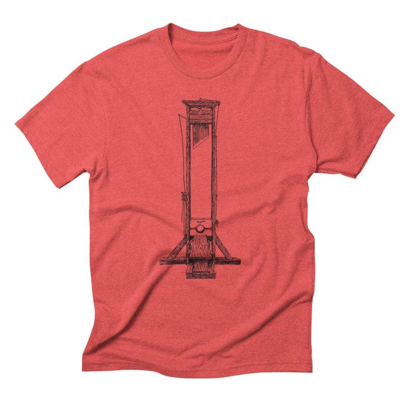 Guillotine (black ink) Men's Triblend T-Shirt by SHOP THORAZOS TSHIRTS