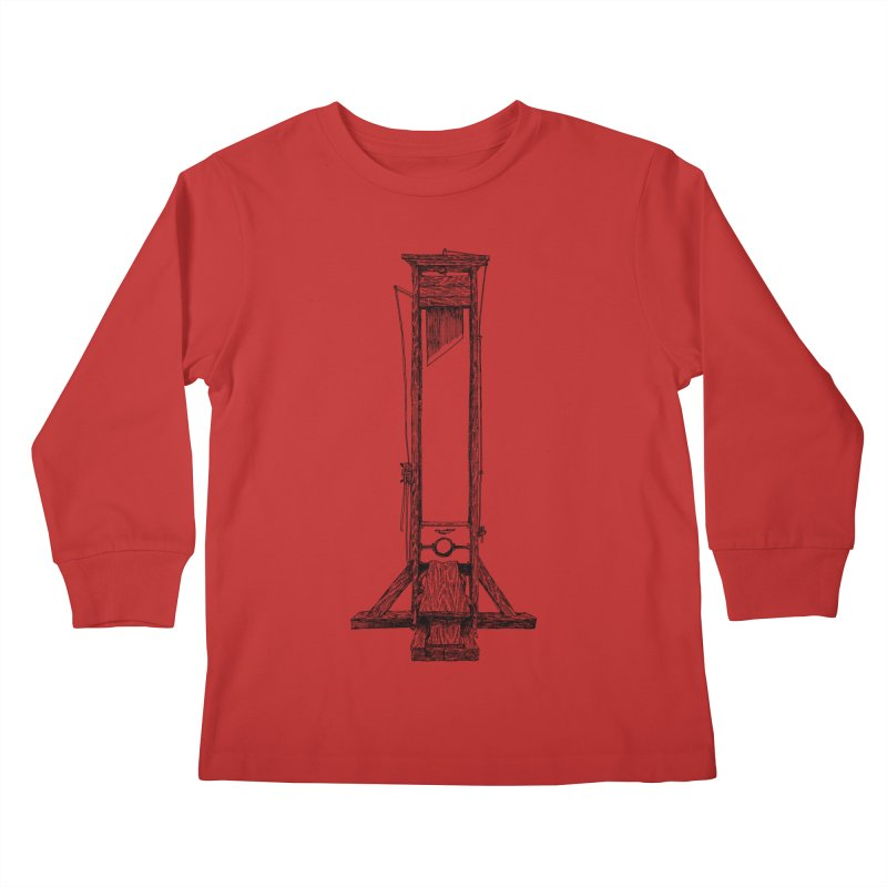 Guillotine (black ink) Kids Longsleeve T-Shirt by SHOP THORAZOS TSHIRTS