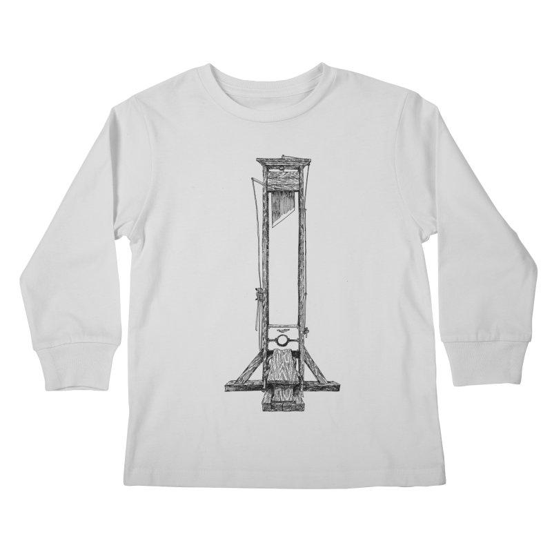 Guillotine (black ink) Kids Longsleeve T-Shirt by SHOP THORAZOS TSHIRTS