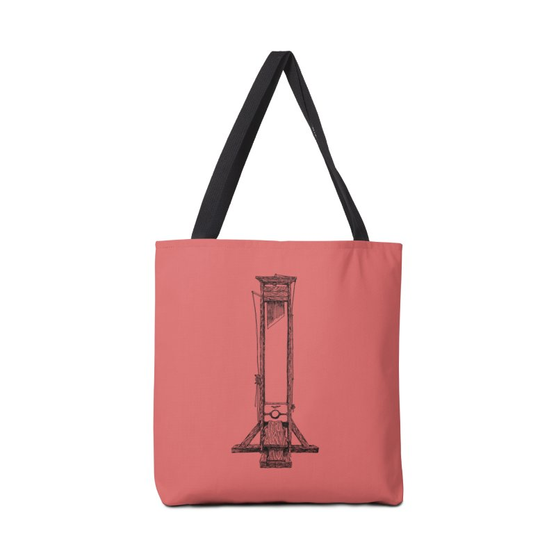 Guillotine (black ink) Accessories Bag by SHOP THORAZOS TSHIRTS