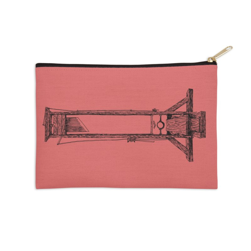 Guillotine (black ink) Accessories Zip Pouch by SHOP THORAZOS TSHIRTS