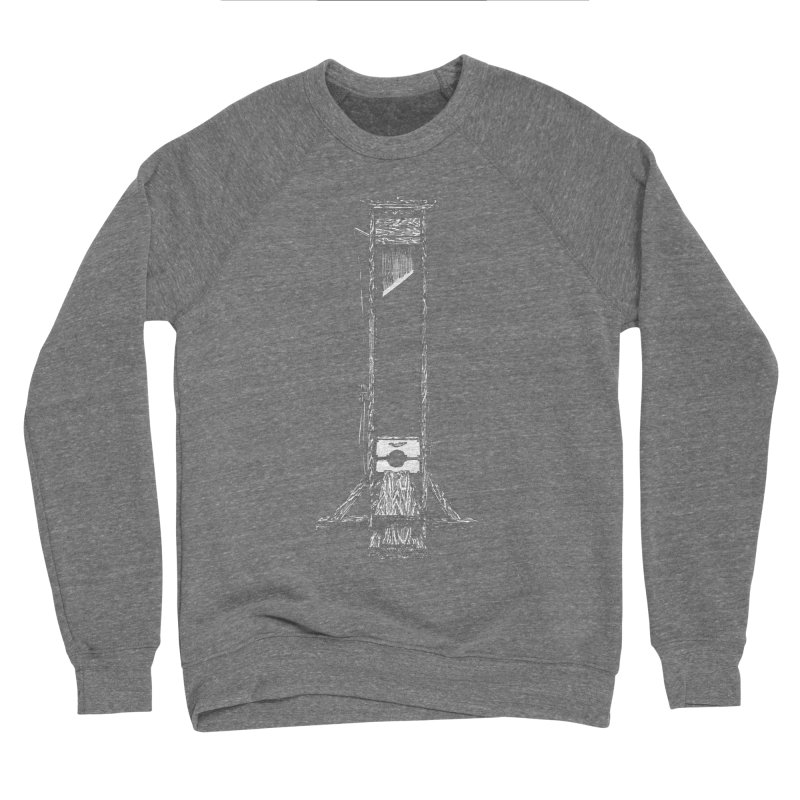 Guillotine (white ink) Men's Sponge Fleece Sweatshirt by SHOP THORAZOS TSHIRTS