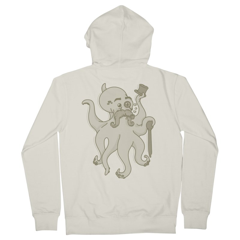 Sir Octopus! Men's French Terry Zip-Up Hoody by Thorne Creative's Artist Shop