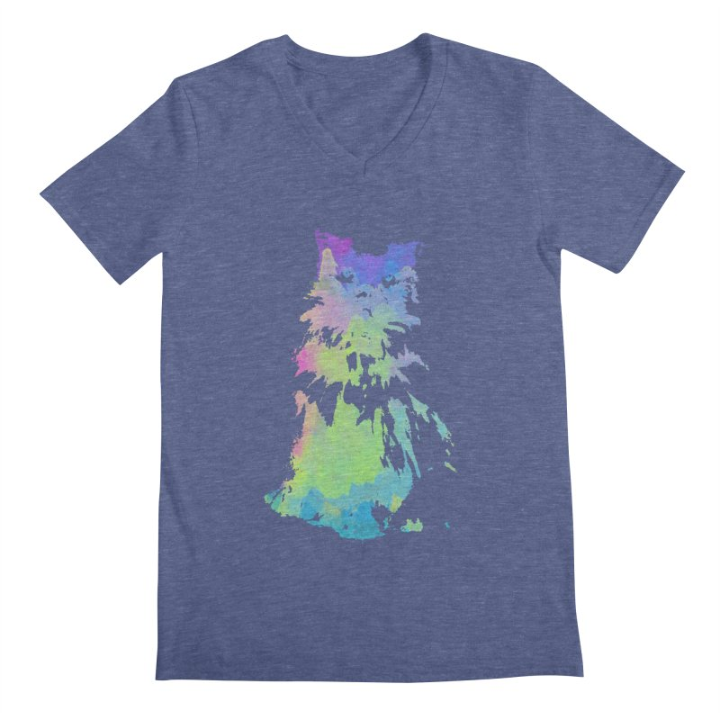 Watercolour Princess Men's Regular V-Neck by Thorne Creative's Artist Shop
