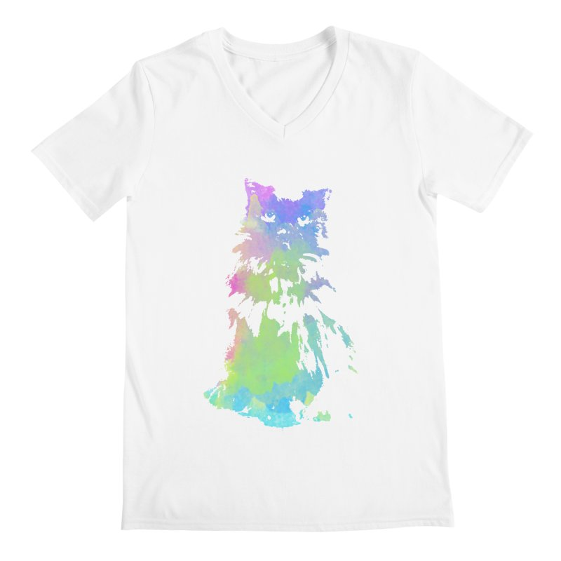 Watercolour Princess Men's V-Neck by Thorne Creative's Artist Shop
