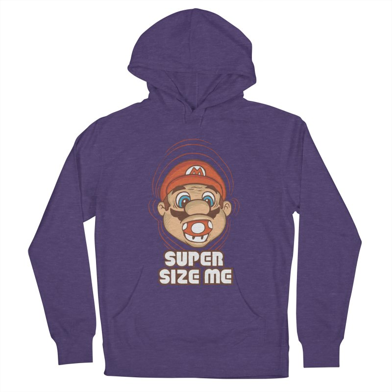 Super Size Me Men's Pullover Hoody by thosoe's Artist Shop