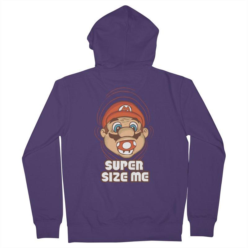 Super Size Me Women's Zip-Up Hoody by thosoe's Artist Shop