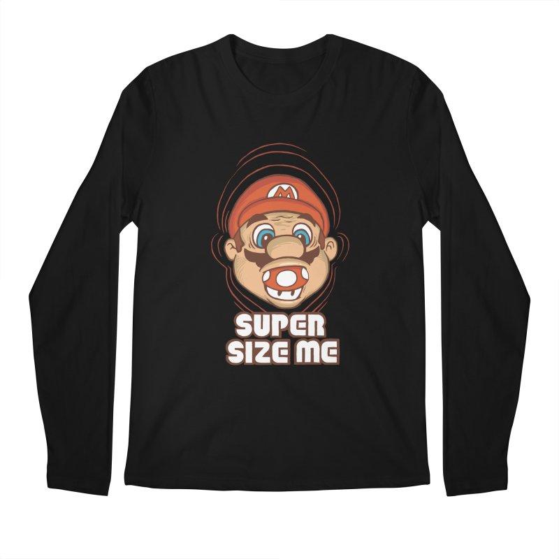 Super Size Me Men's Longsleeve T-Shirt by thosoe's Artist Shop