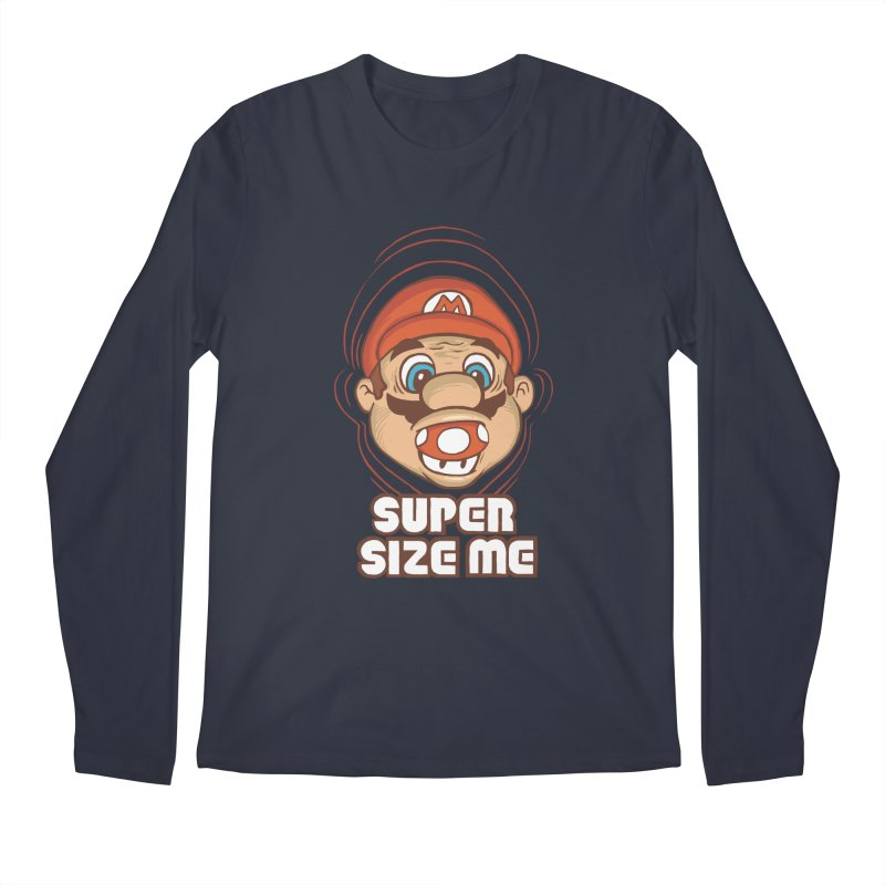 Super Size Me Men's Longsleeve T-Shirt by thosoe's Artist Shop
