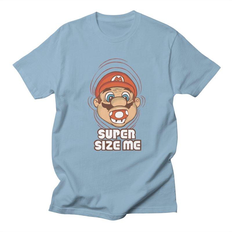 Super Size Me Men's T-Shirt by thosoe's Artist Shop