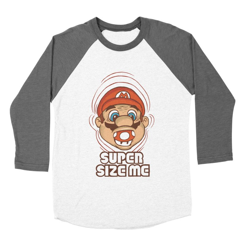 Super Size Me Women's Baseball Triblend T-Shirt by thosoe's Artist Shop