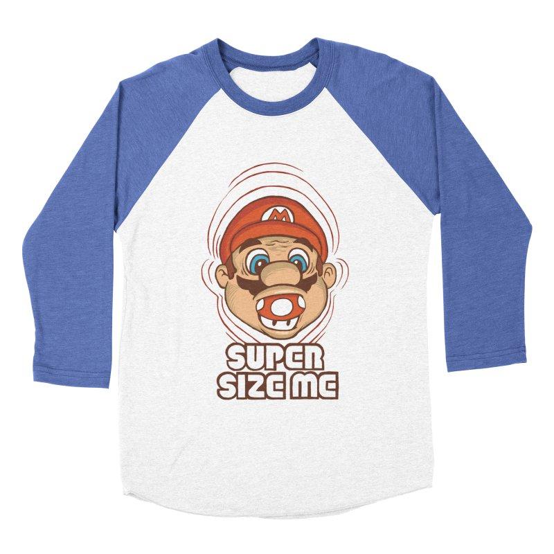 Super Size Me Men's Baseball Triblend T-Shirt by thosoe's Artist Shop