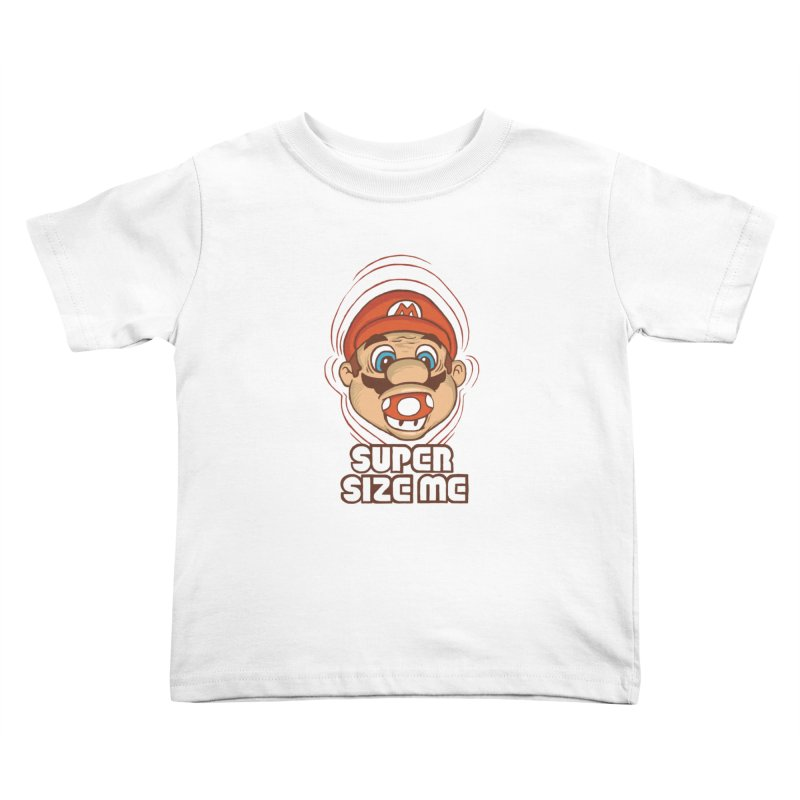 Super Size Me Kids Toddler T-Shirt by thosoe's Artist Shop