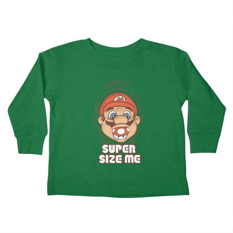 Super Size Me Kids Toddler Longsleeve T-Shirt by thosoe's Artist Shop