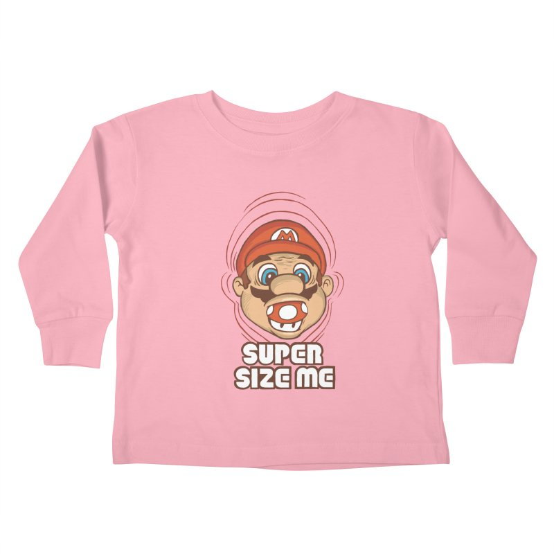 Super Size Me Kids Toddler Longsleeve T-Shirt by thosoe's Artist Shop