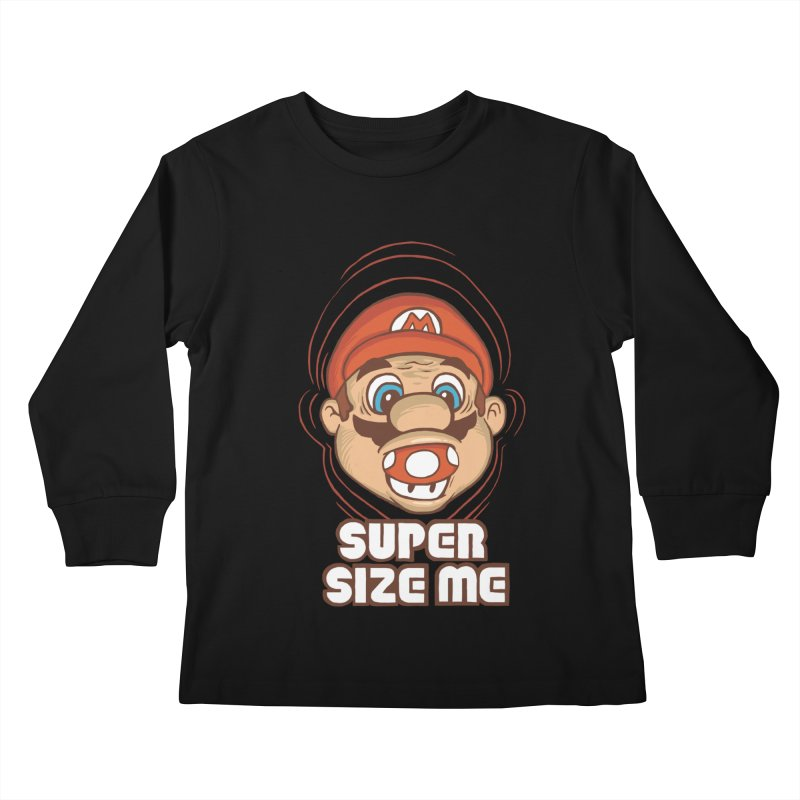 Super Size Me Kids Longsleeve T-Shirt by thosoe's Artist Shop