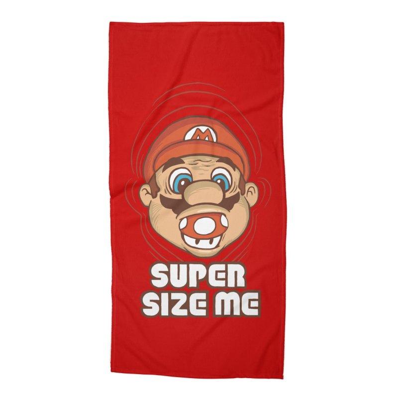 Super Size Me Accessories Beach Towel by thosoe's Artist Shop